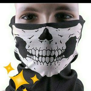 Accessories - NWOT skull face shield/bandana/headband/scarf